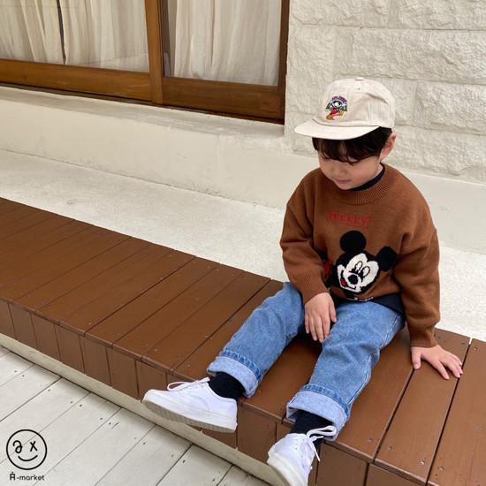 A-MARKET - Korean Children Fashion - #Kfashion4kids - Start Mickey Knit Pullover - 9
