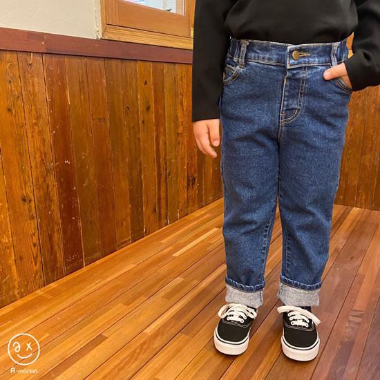 A-MARKET - Korean Children Fashion - #Kfashion4kids - Basic Denim Pants - 4