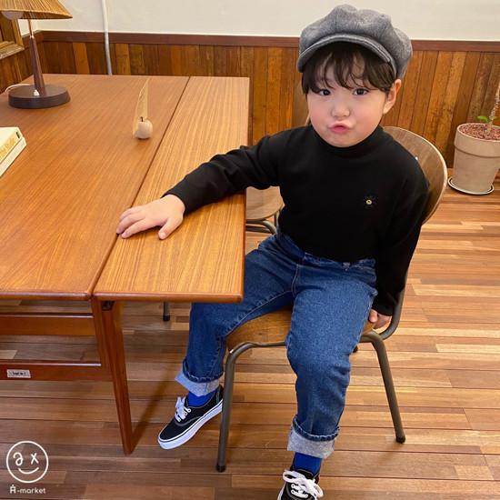A-MARKET - Korean Children Fashion - #Kfashion4kids - Basic Denim Pants - 6