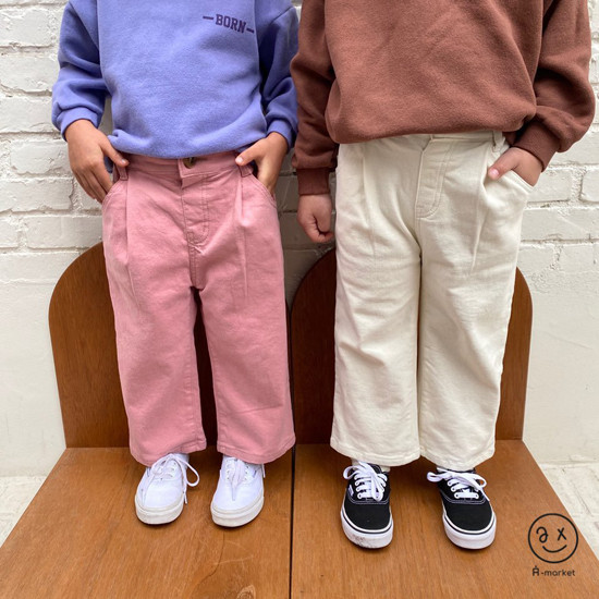 A-MARKET - Korean Children Fashion - #Kfashion4kids - Cotton Pants  - 3