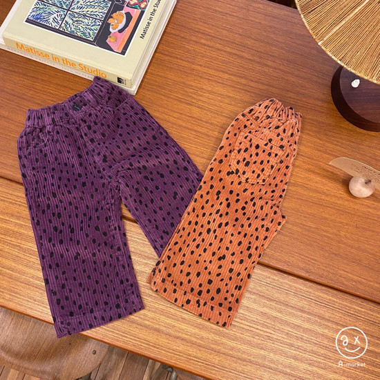 A-MARKET - Korean Children Fashion - #Kfashion4kids - Leopard Wide Pants