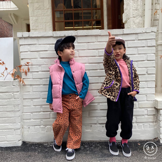 A-MARKET - Korean Children Fashion - #Kfashion4kids - Leopard Wide Pants - 10
