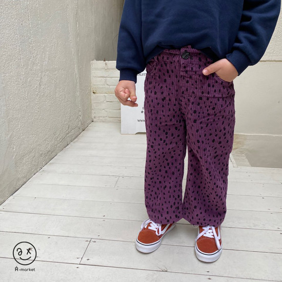 A-MARKET - Korean Children Fashion - #Kfashion4kids - Leopard Wide Pants - 3