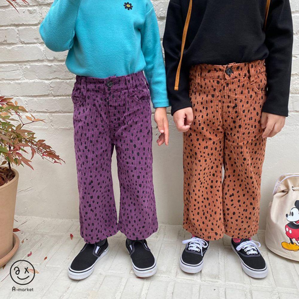 A-MARKET - BRAND - Korean Children Fashion - #Kfashion4kids - Leopard Wide Pants