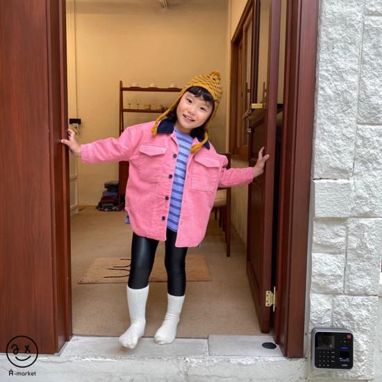 A-MARKET - Korean Children Fashion - #Kfashion4kids - Fleece Shining Leggings - 3