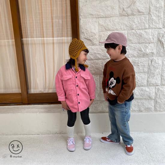 A-MARKET - Korean Children Fashion - #Kfashion4kids - Fleece Shining Leggings - 7