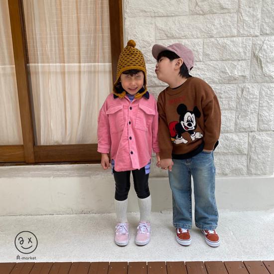 A-MARKET - Korean Children Fashion - #Kfashion4kids - Fleece Shining Leggings - 8