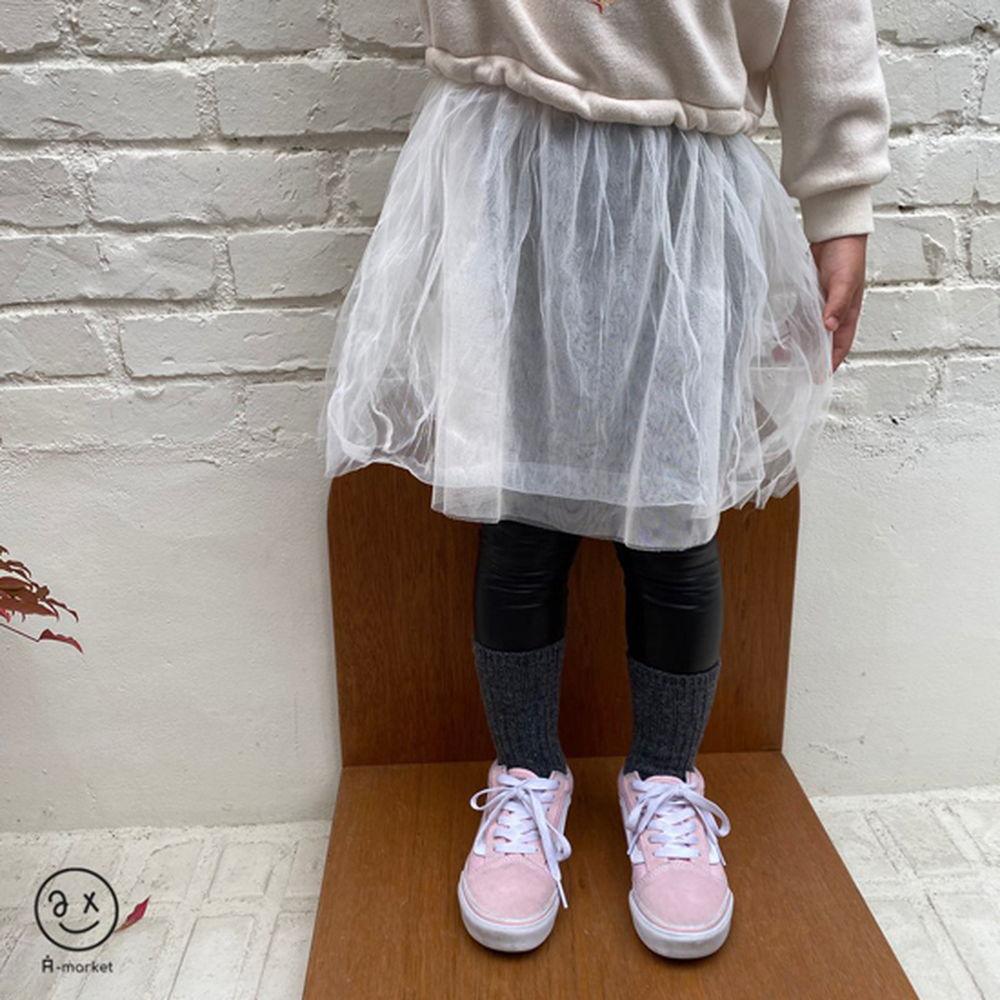 A-MARKET - BRAND - Korean Children Fashion - #Kfashion4kids - Fleece Shining Leggings