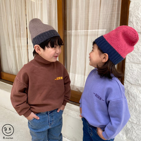 A-MARKET - Korean Children Fashion - #Kfashion4kids - Colored Beanie - 3