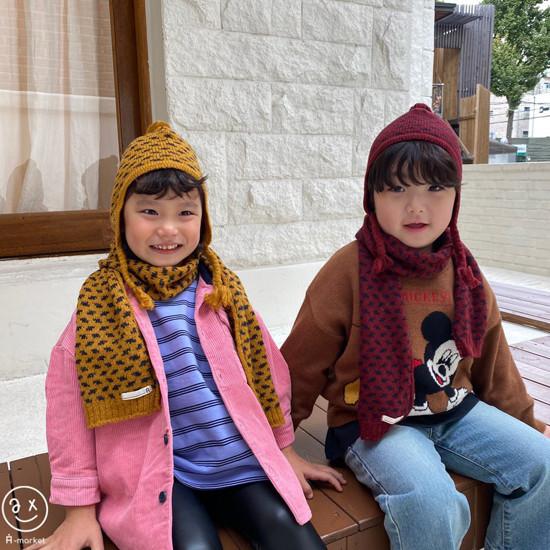 A-MARKET - Korean Children Fashion - #Kfashion4kids - Leopard Muffler & Hat Set - 6