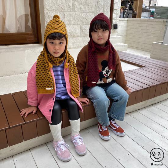 A-MARKET - Korean Children Fashion - #Kfashion4kids - Leopard Muffler & Hat Set - 7