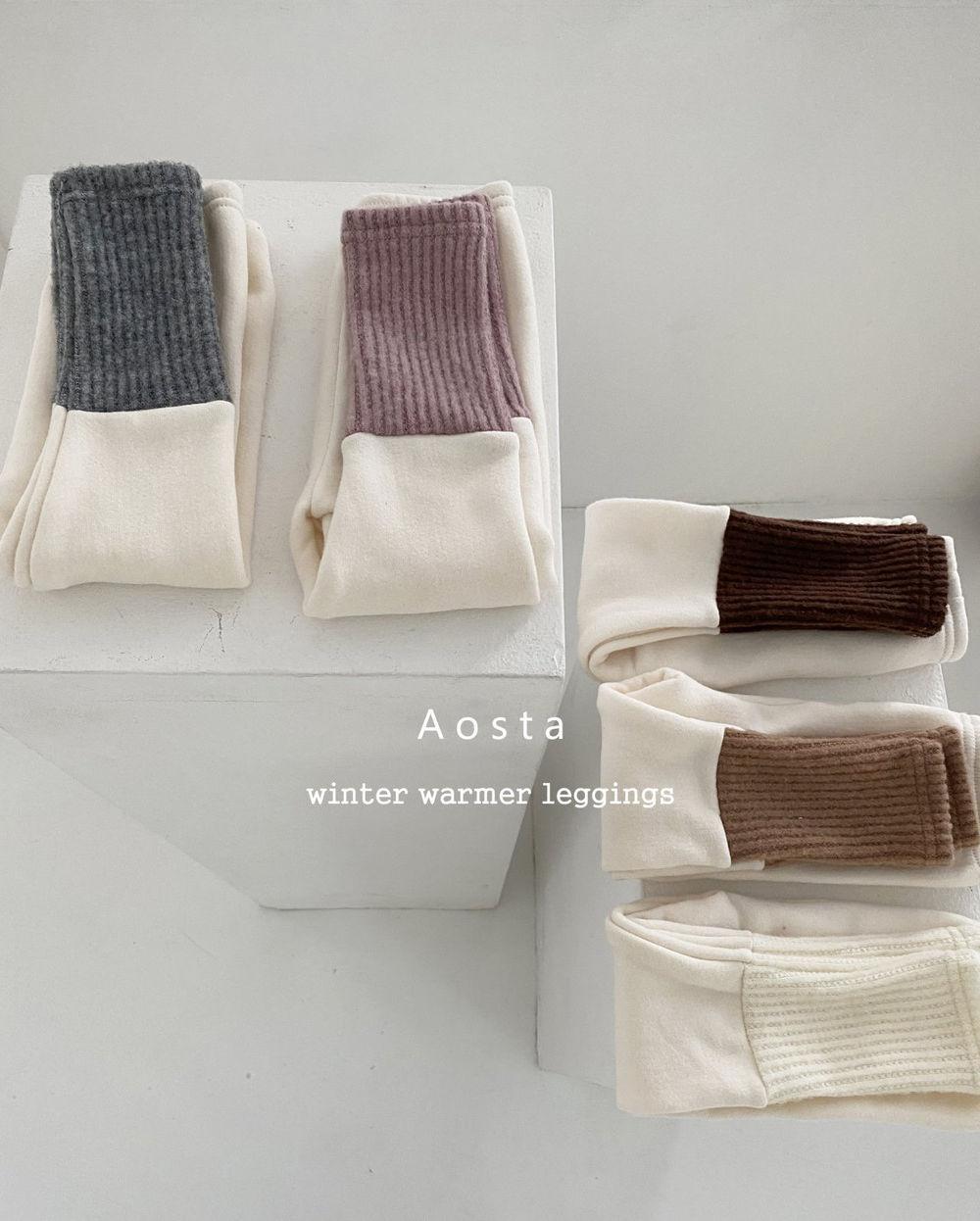 AOSTA - Korean Children Fashion - #Kfashion4kids - Warmer Leggings