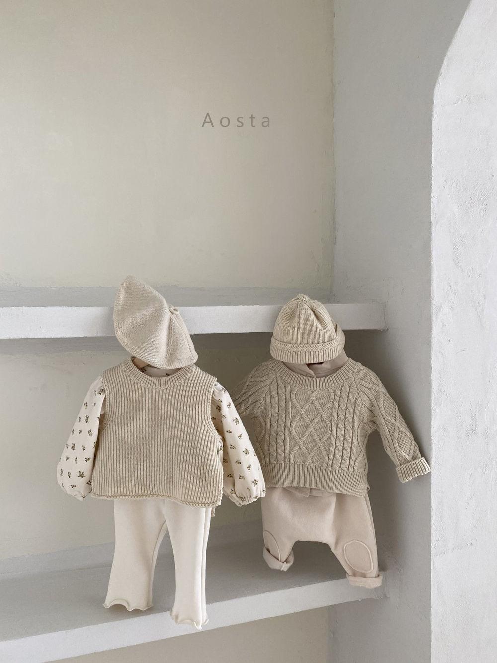 AOSTA - Korean Children Fashion - #Kfashion4kids - Bbang Fleeced Warm Pants - 5