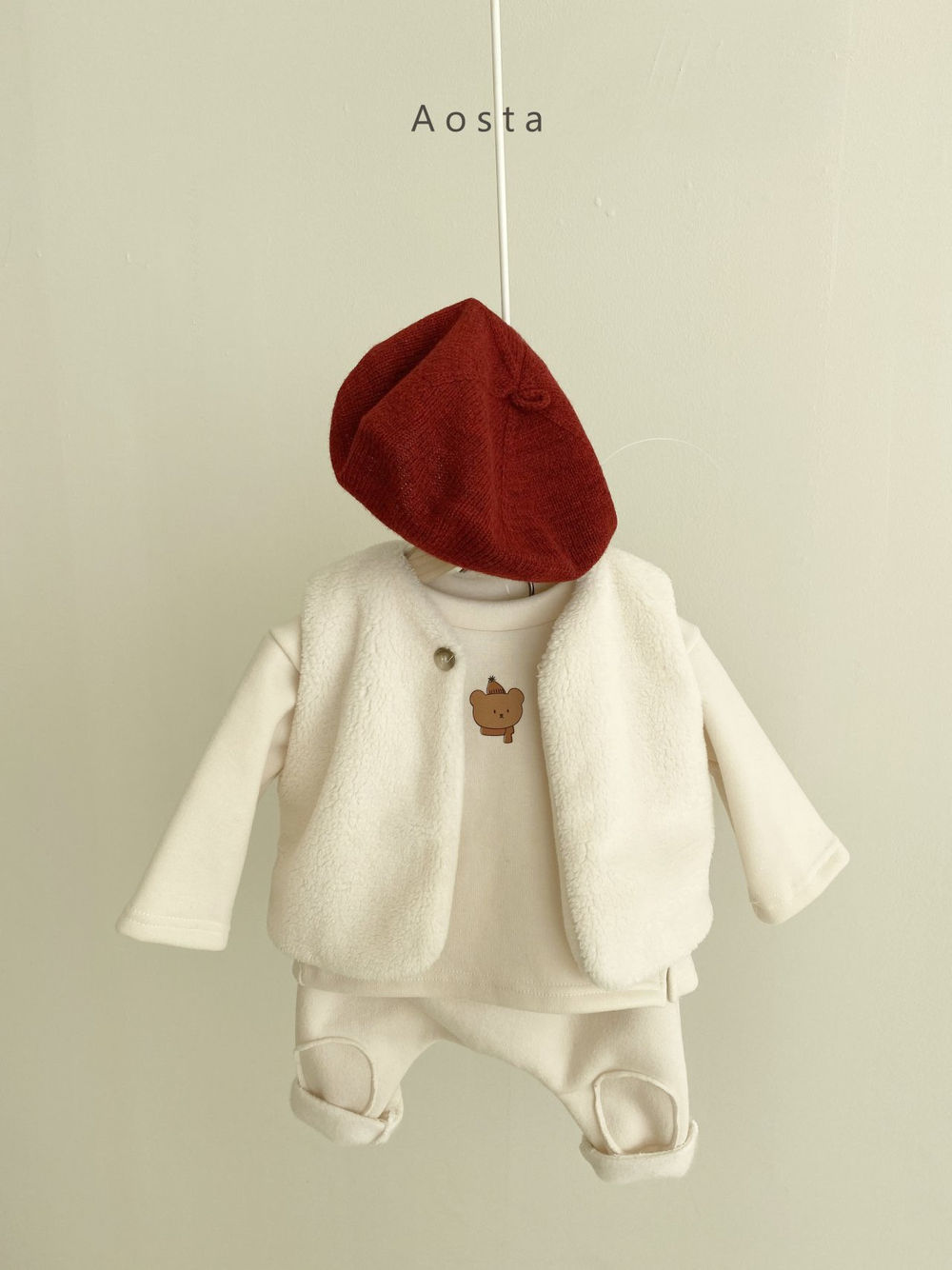 AOSTA - Korean Children Fashion - #Kfashion4kids - Bbang Fleeced Warm Pants - 6
