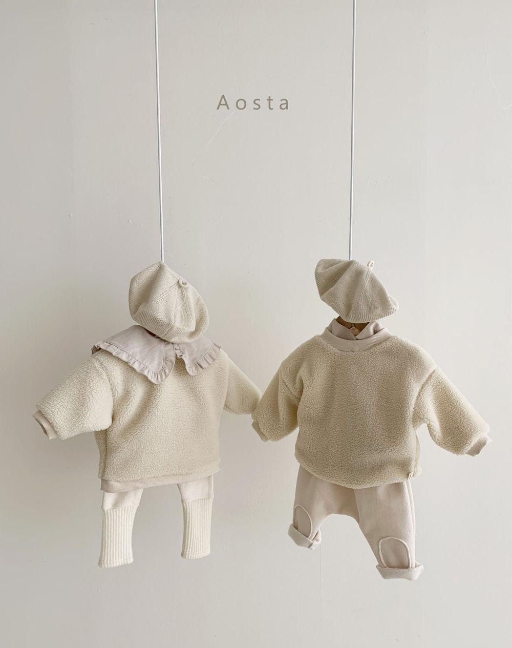 AOSTA - Korean Children Fashion - #Kfashion4kids - Bbang Fleeced Warm Pants - 9