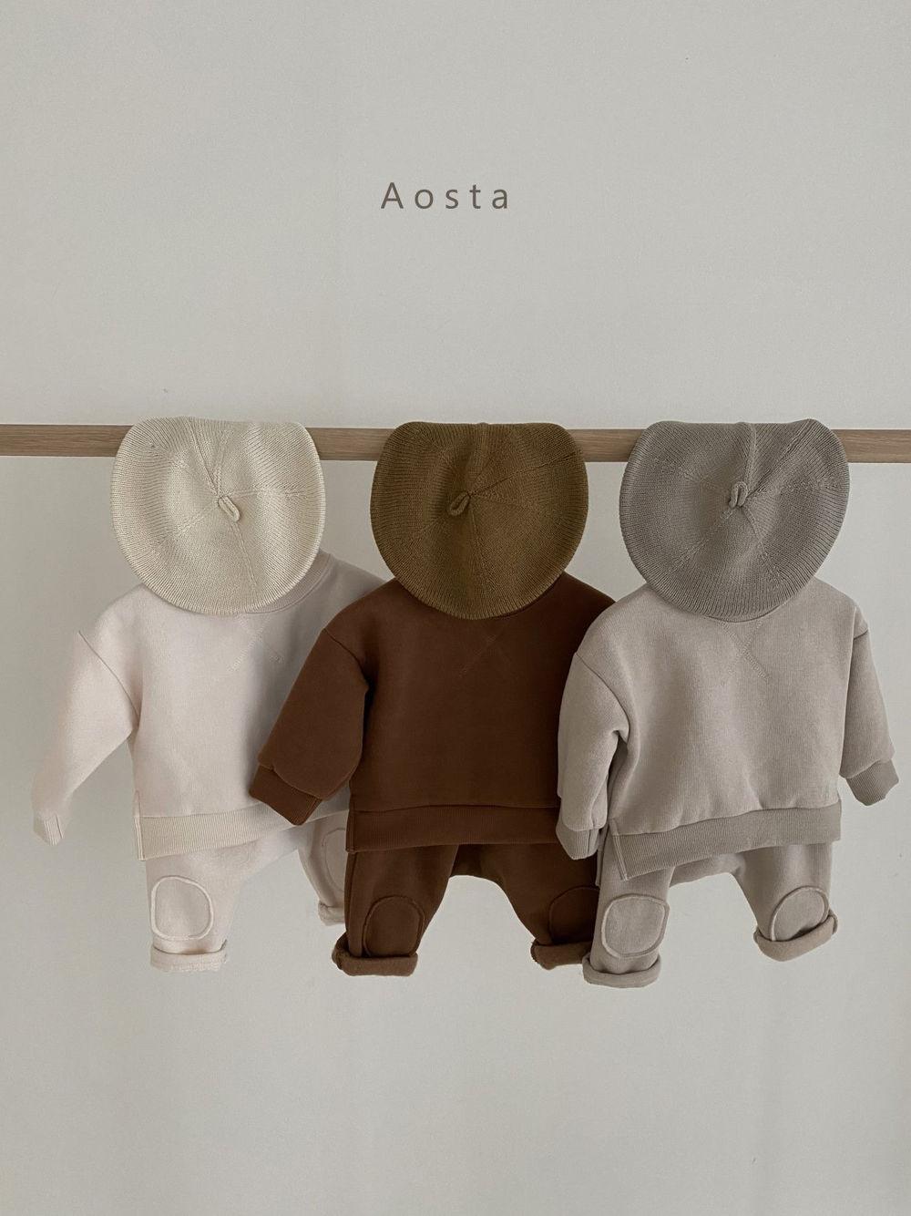 AOSTA - Korean Children Fashion - #Kfashion4kids - Bbang Fleeced Sweatshirt - 12