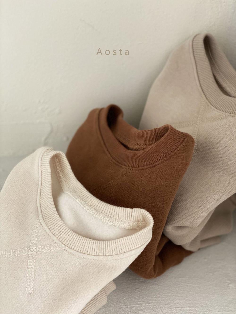 AOSTA - Korean Children Fashion - #Kfashion4kids - Bbang Fleeced Sweatshirt - 4