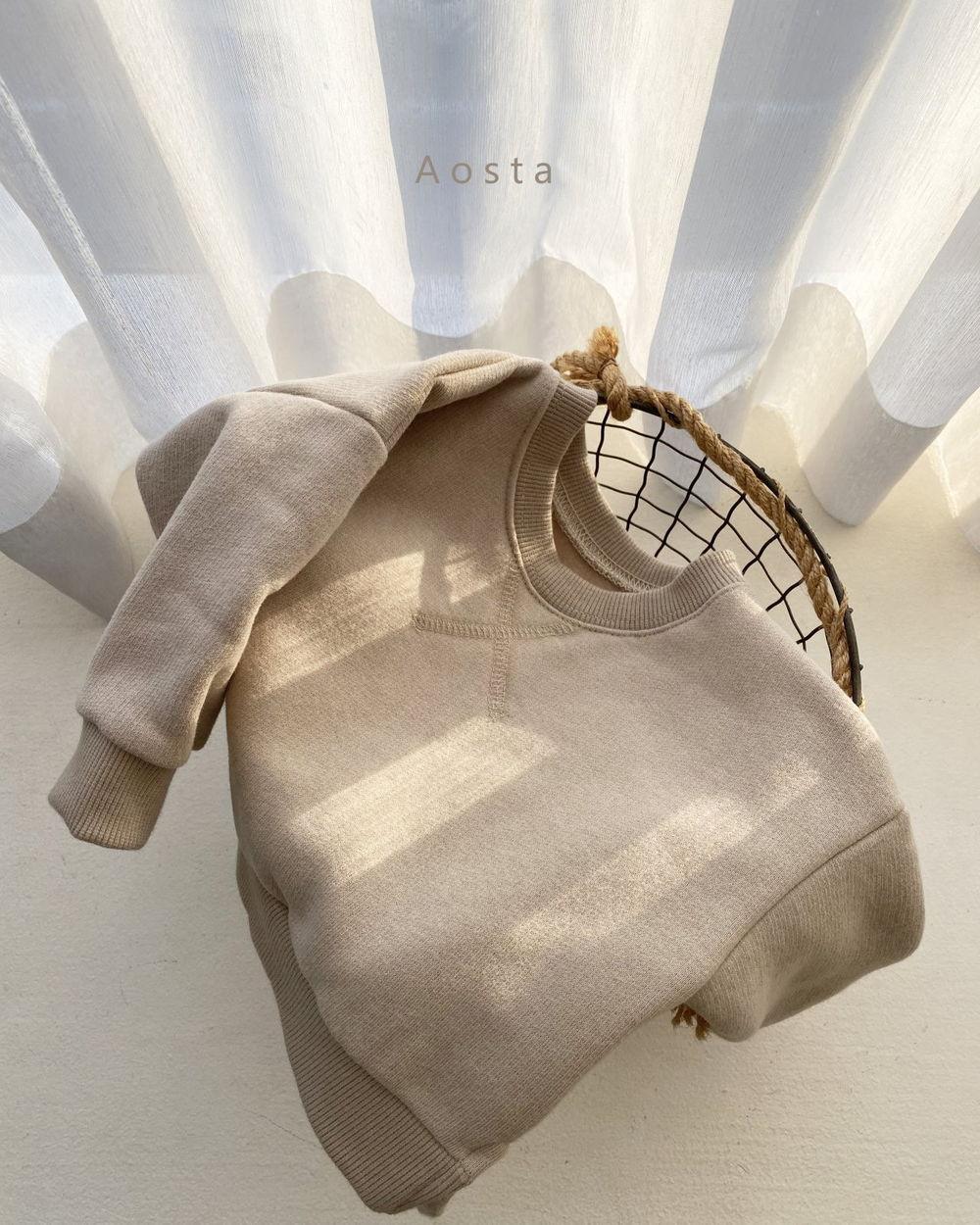 AOSTA - Korean Children Fashion - #Kfashion4kids - Bbang Fleeced Sweatshirt - 5