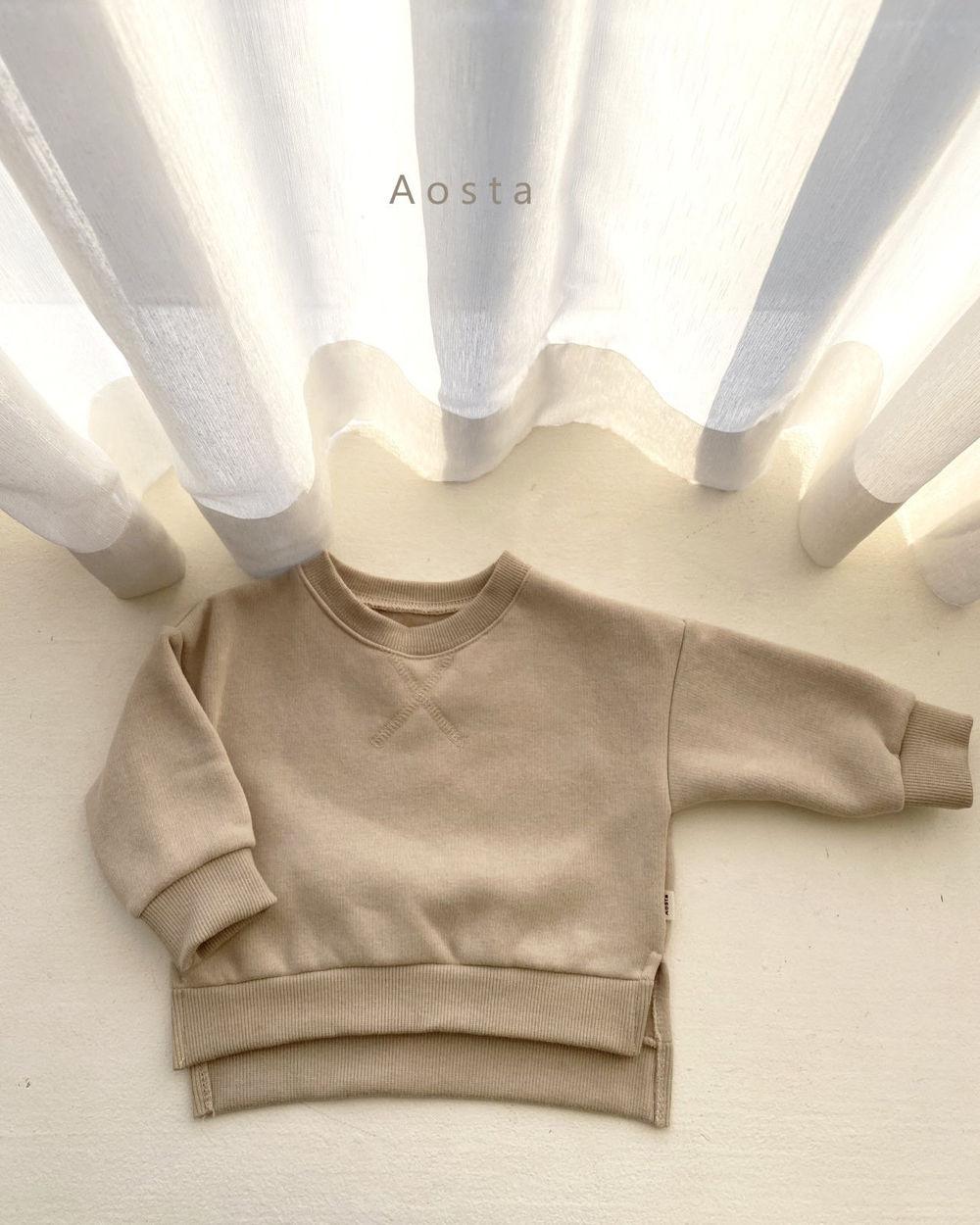 AOSTA - Korean Children Fashion - #Kfashion4kids - Bbang Fleeced Sweatshirt - 6