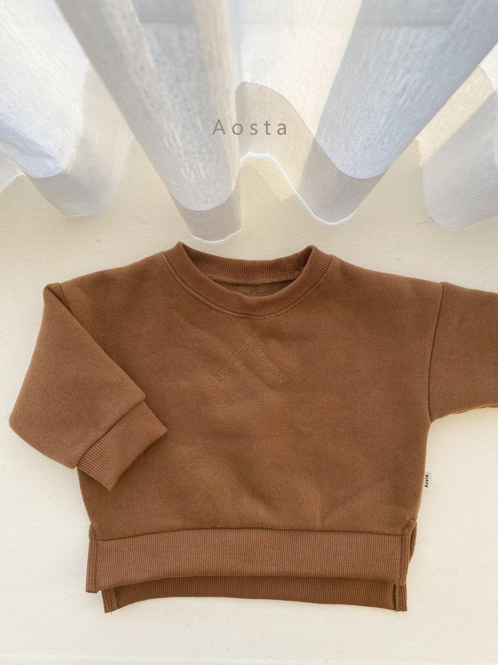 AOSTA - Korean Children Fashion - #Kfashion4kids - Bbang Fleeced Sweatshirt - 7