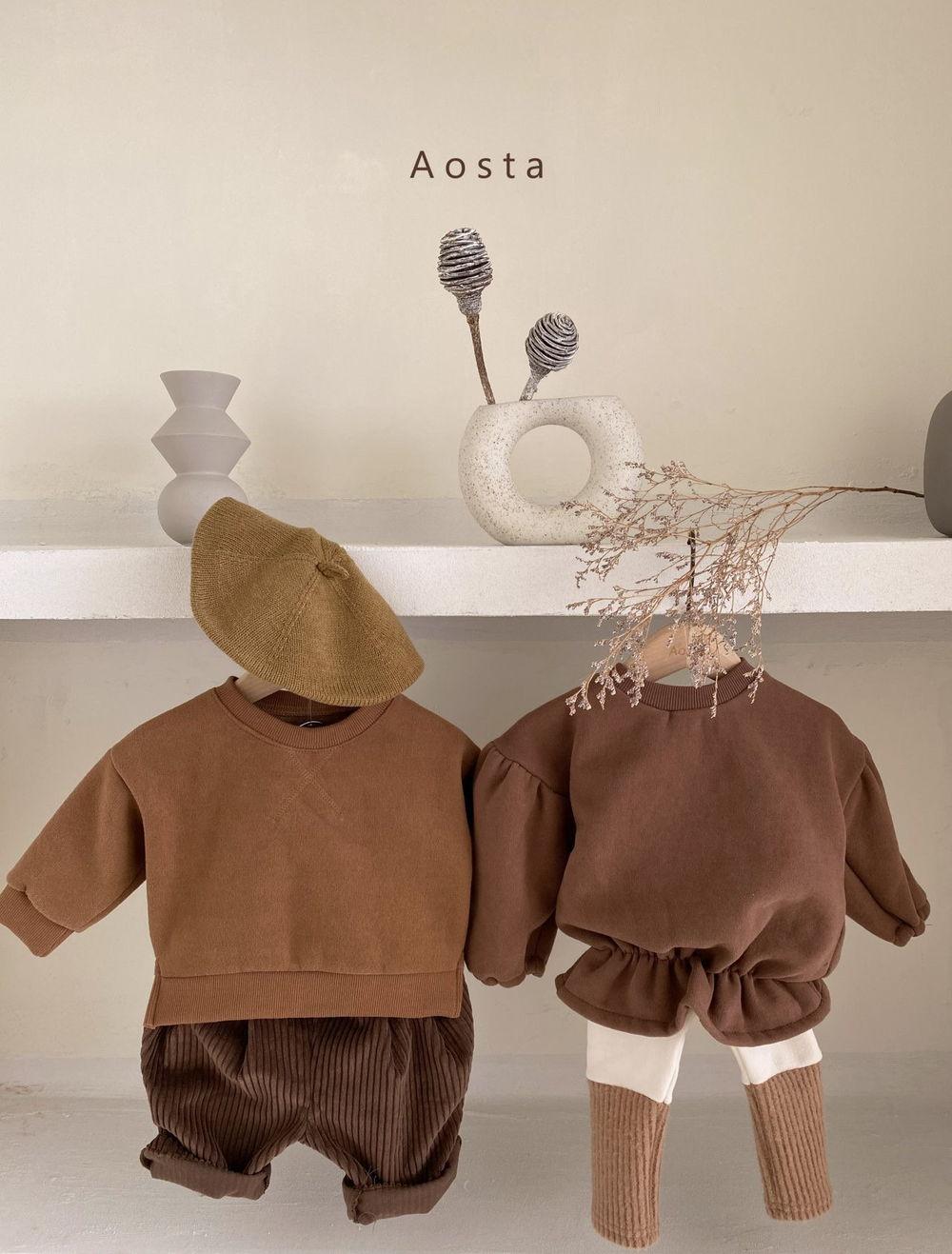 AOSTA - Korean Children Fashion - #Kfashion4kids - Bbang Fleeced Sweatshirt - 8