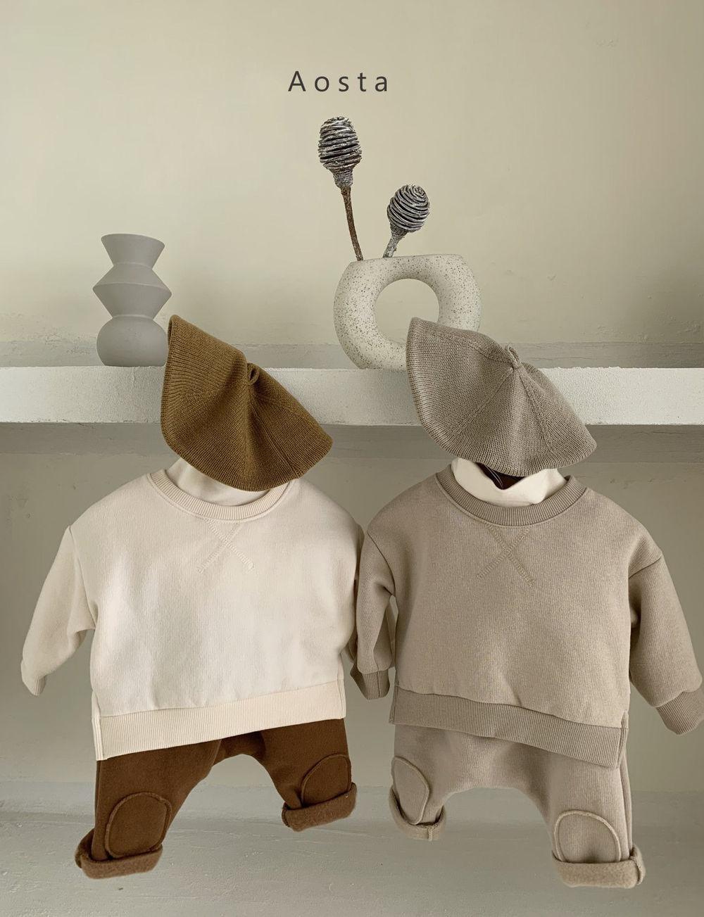 AOSTA - Korean Children Fashion - #Kfashion4kids - Bbang Fleeced Sweatshirt - 9