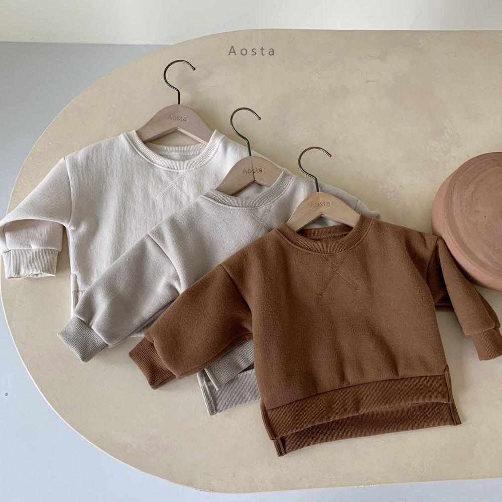 AOSTA - BRAND - Korean Children Fashion - #Kfashion4kids - Bbang Fleeced Sweatshirt