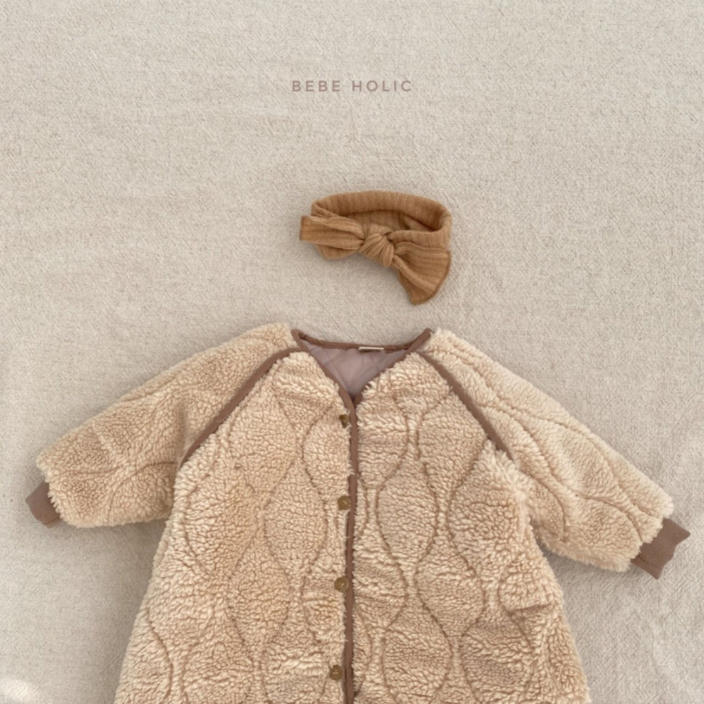 BEBE HOLIC - Korean Children Fashion - #Kfashion4kids - Bebe Padding Outer Bodysuit - 4