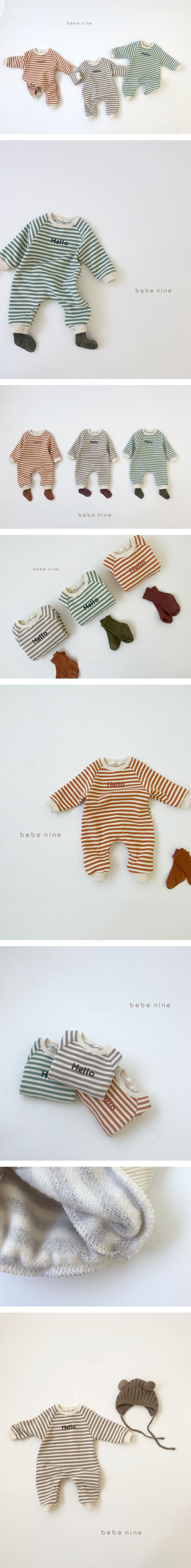 BEBE NINE - Korean Children Fashion - #Kfashion4kids - Hello Bodysuit