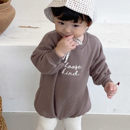 BEBE NINE - BRAND - Korean Children Fashion - #Kfashion4kids - Mocha Bodysuit