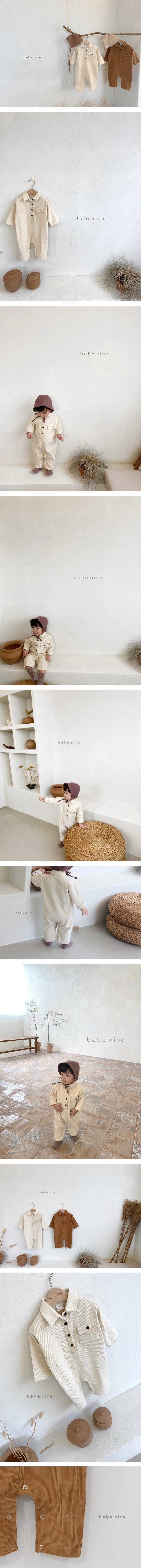 BEBE NINE - Korean Children Fashion - #Kfashion4kids - Corduroy Collar Overalls