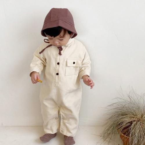 BEBE NINE - BRAND - Korean Children Fashion - #Kfashion4kids - Corduroy Collar Overalls