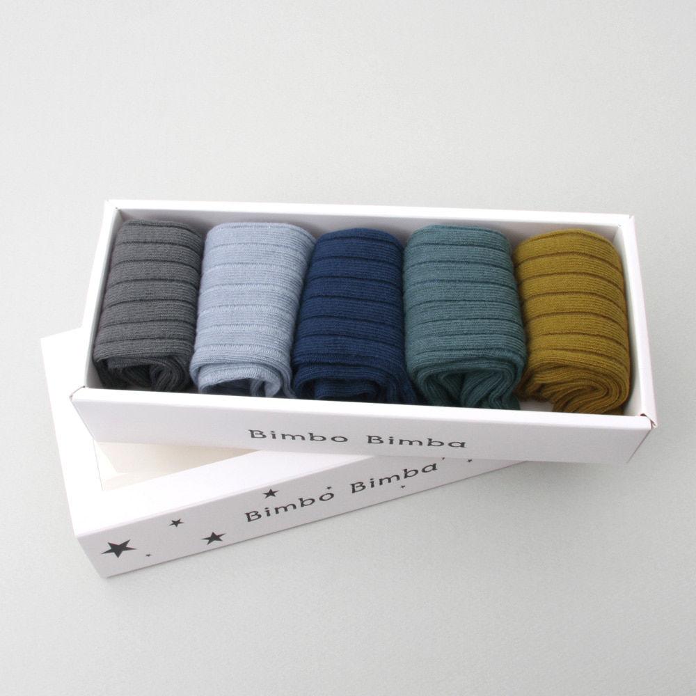 BIMBO BIMBA - BRAND - Korean Children Fashion - #Kfashion4kids - Greenery Socks [set of 5]
