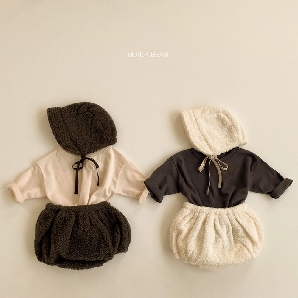 BLACK BEAN - BRAND - Korean Children Fashion - #Kfashion4kids - Cap & Tee & Bloomer Set