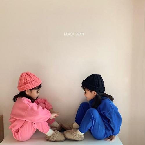 BLACK BEAN - BRAND - Korean Children Fashion - #Kfashion4kids - Choux Cream Top Bottom Set
