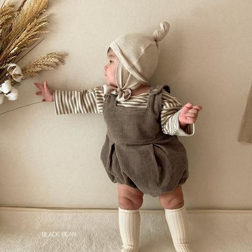 BLACK BEAN - BRAND - Korean Children Fashion - #Kfashion4kids - Vienna Suspender Pants with Tee