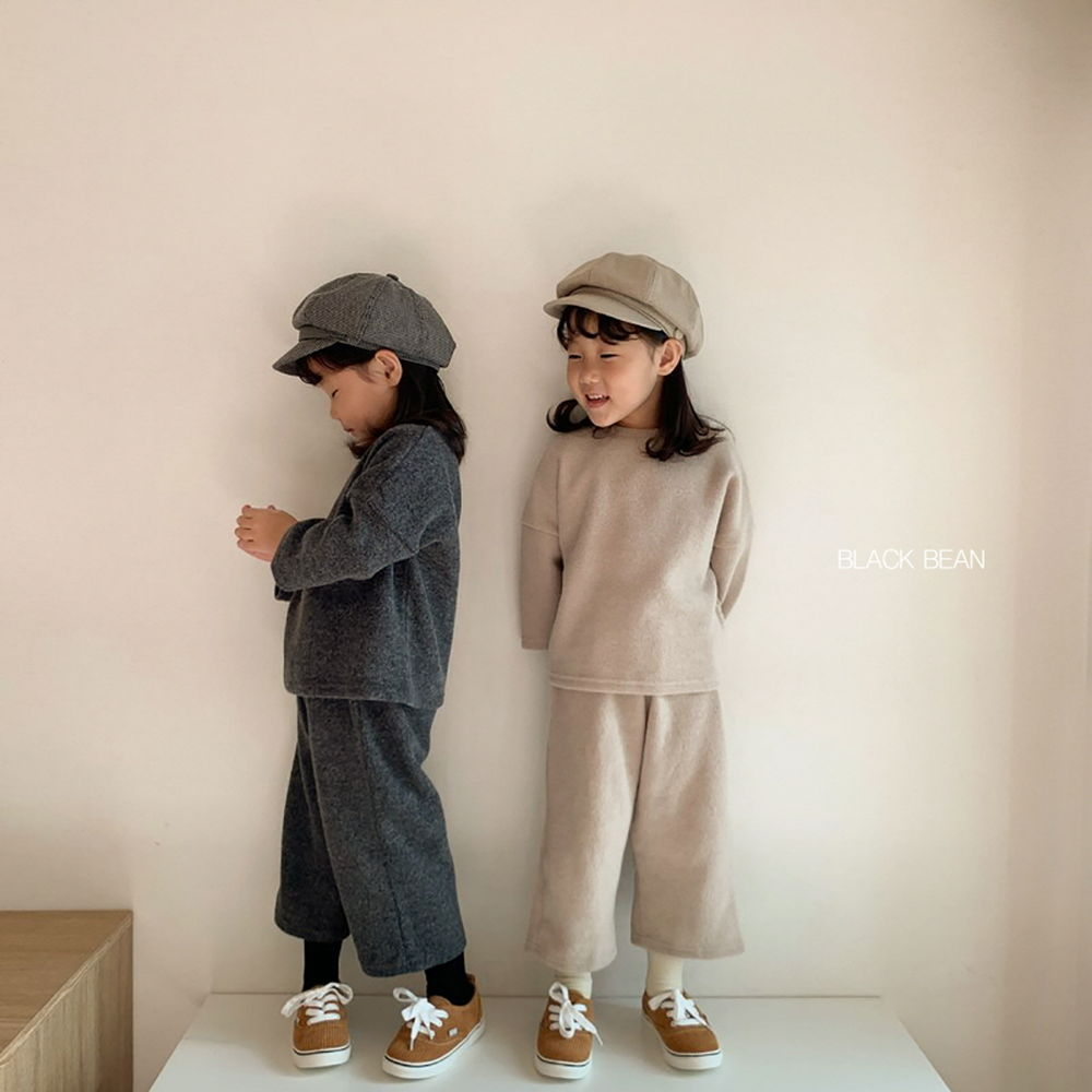 BLACK BEAN - Korean Children Fashion - #Kfashion4kids - Mom Velly Top Bottom Set - 2