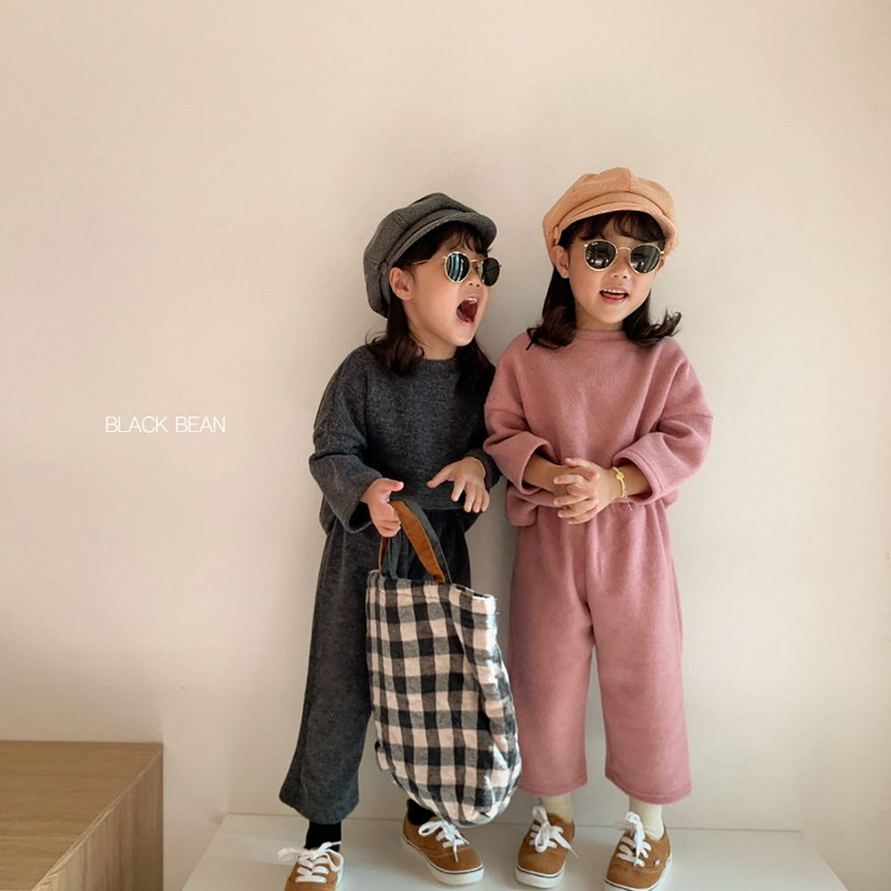 BLACK BEAN - Korean Children Fashion - #Kfashion4kids - Mom Velly Top Bottom Set - 4