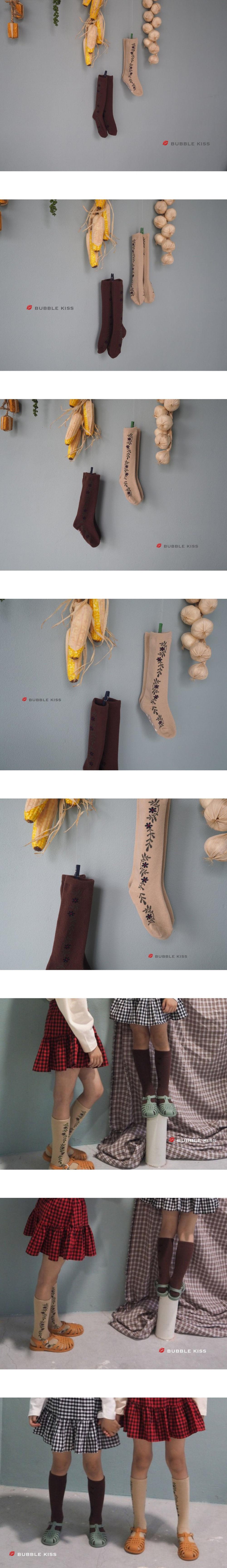 BUBBLE KISS - Korean Children Fashion - #Kfashion4kids - Ivy Knee Socks [set of 2]