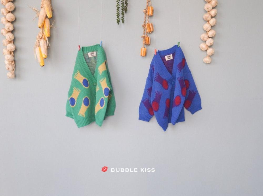 BUBBLE KISS - Korean Children Fashion - #Kfashion4kids - Jellyfish Knit Cardigan