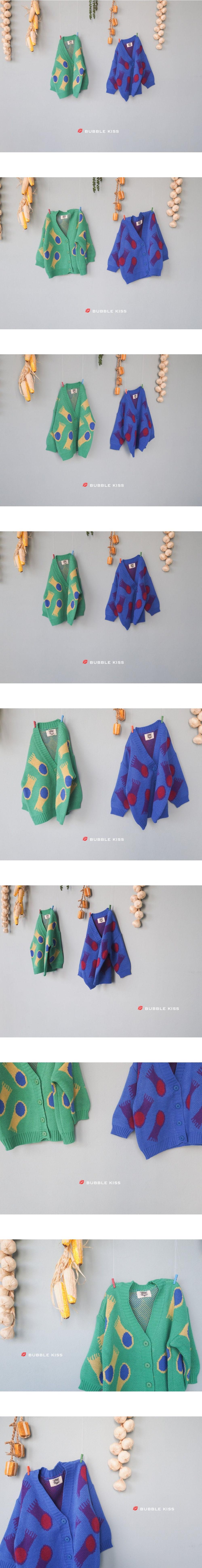 BUBBLE KISS - Korean Children Fashion - #Kfashion4kids - Jellyfish Knit Cardigan - 3