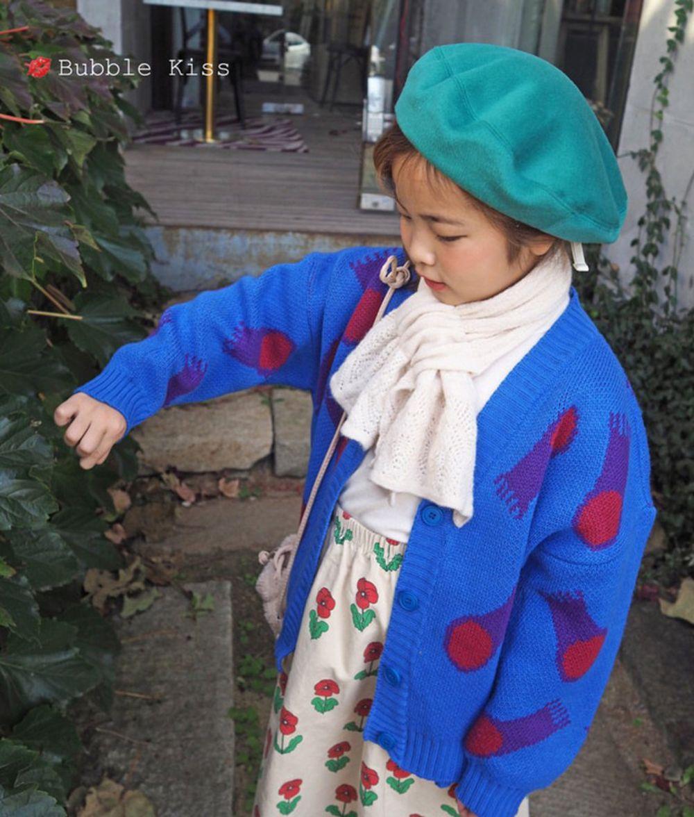 BUBBLE KISS - BRAND - Korean Children Fashion - #Kfashion4kids - Jellyfish Knit Cardigan