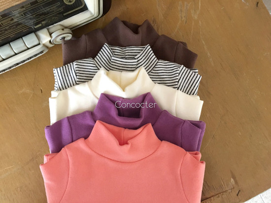 CONCOCTER - Korean Children Fashion - #Kfashion4kids - Peach Turtleneck Tee - 3