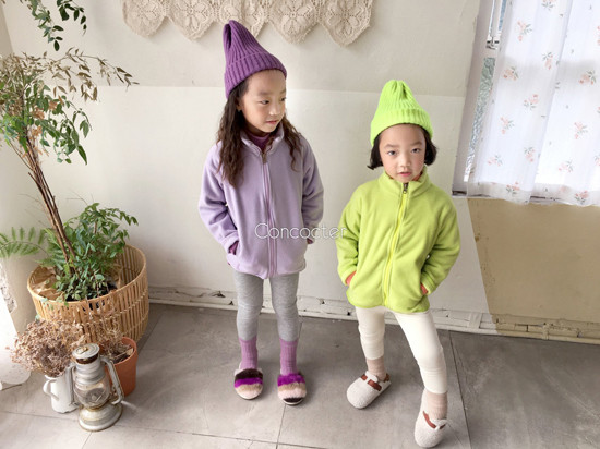 CONCOCTER - Korean Children Fashion - #Kfashion4kids - Peach Turtleneck Tee - 4