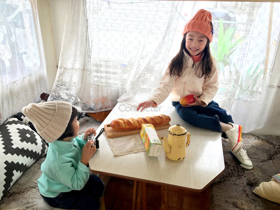 CONCOCTER - Korean Children Fashion - #Kfashion4kids - Peach Turtleneck Tee - 5