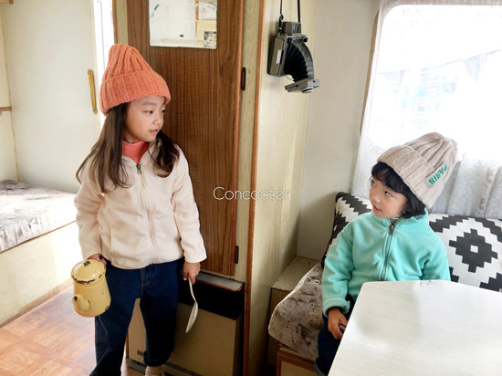 CONCOCTER - Korean Children Fashion - #Kfashion4kids - Peach Turtleneck Tee - 6