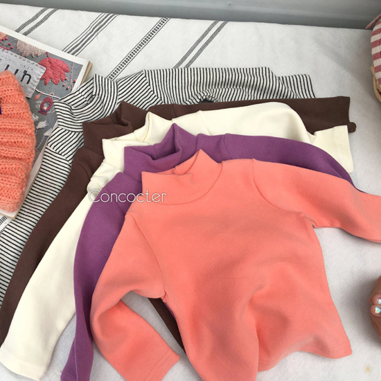 CONCOCTER - BRAND - Korean Children Fashion - #Kfashion4kids - Peach Turtleneck Tee