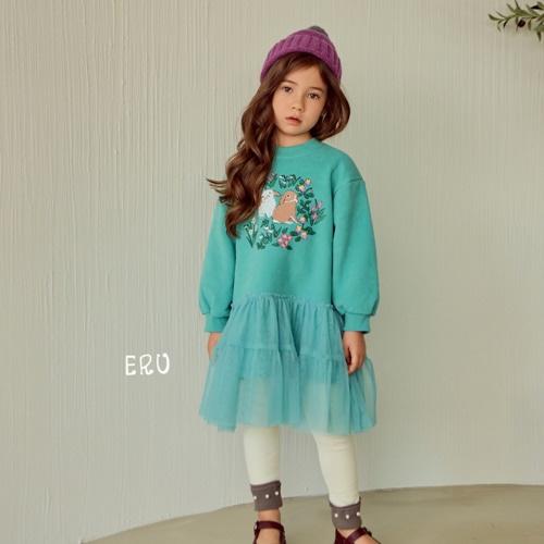 E.RU - BRAND - Korean Children Fashion - #Kfashion4kids - Rabbit Mesh One-piece