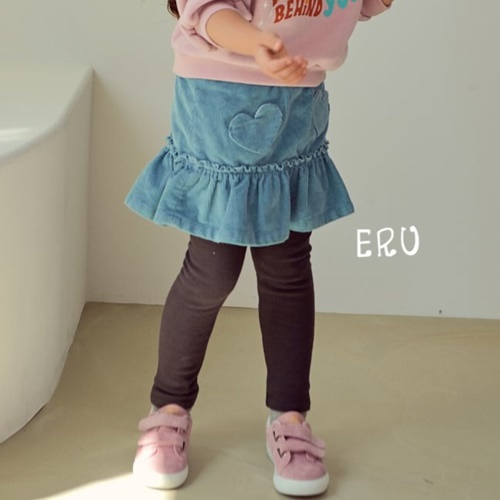 E.RU - BRAND - Korean Children Fashion - #Kfashion4kids - Span Heart Skirt Leggings