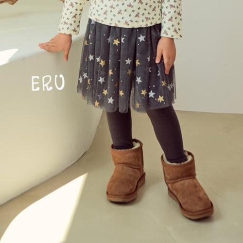 E.RU - BRAND - Korean Children Fashion - #Kfashion4kids - Star Mesh Skirt Leggings